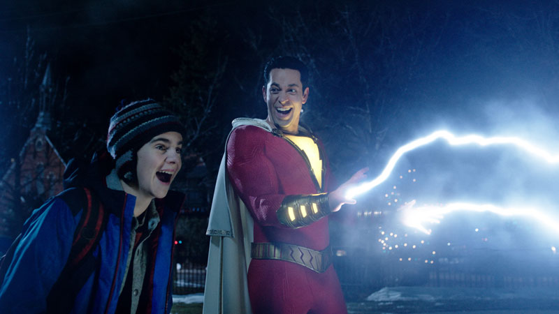 Cooper Andrews (TV's The Walking Dead) and Marta Milans (TV's Killer Women) play foster parents Victor and Rosa Vasquez, with Oscar nominee Djimon Hounsou (Blood Diamond) as the Wizard.  What do you think of the new Shazam costume (hint: click the paparazzi link above!)? Let us know what you think in the comments below.