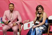 Maelyn Jarmon and John Legend on The Voice Finale