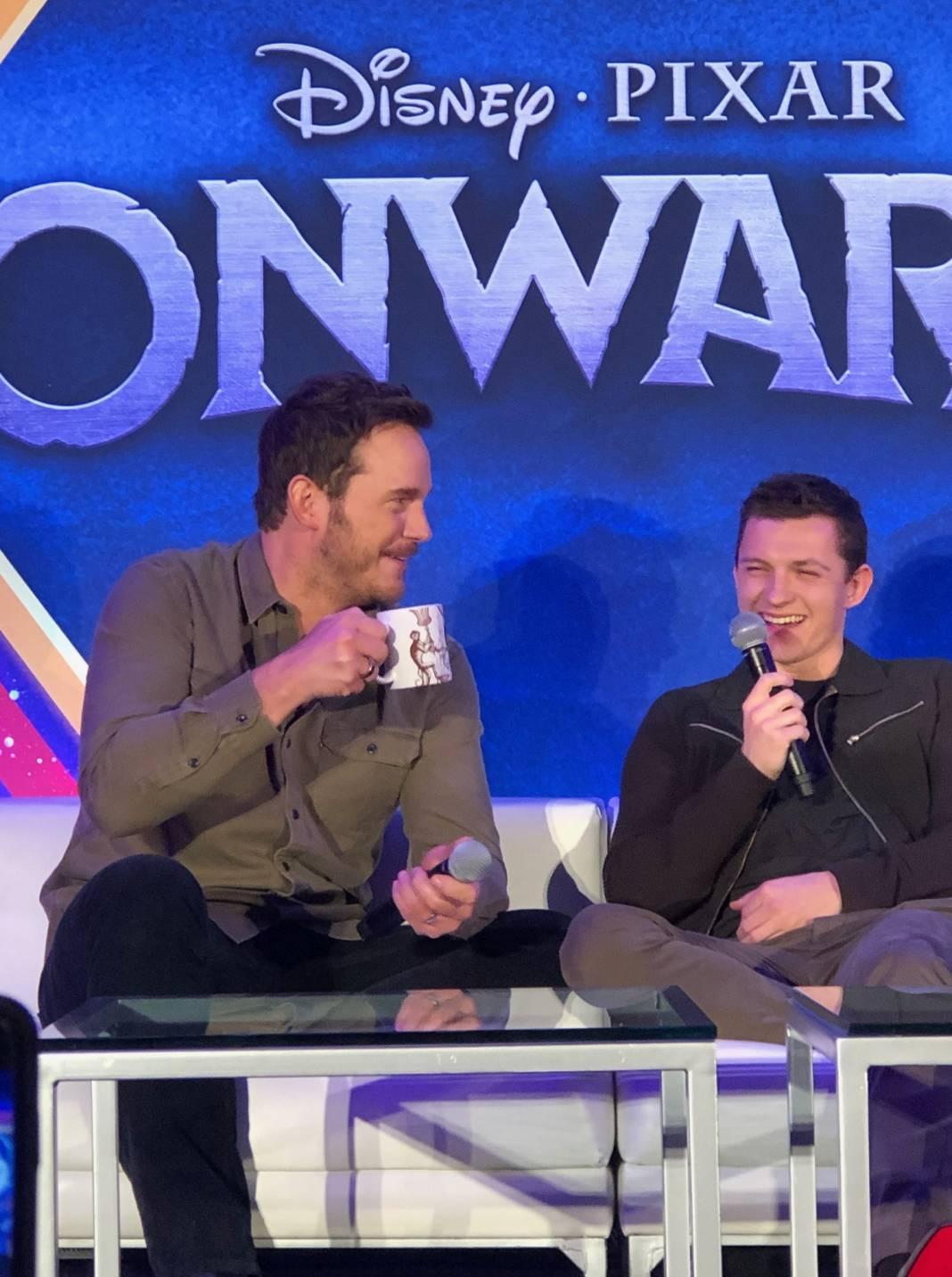 Onward Press Conference: Chris Pratt, Tom Holland on the Pixar Film