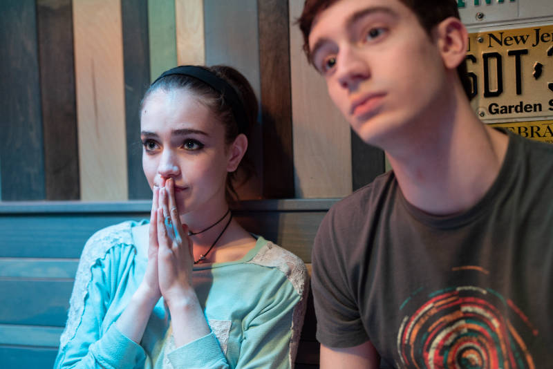 Talia Ryder stars as Skylar and Théodore Pellerin as Jasper in NEVER RARELY SOMETIMES ALWAYS