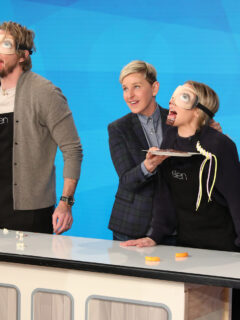 Kristen Bell and Dax Shepard Host Family Game Night for NBC