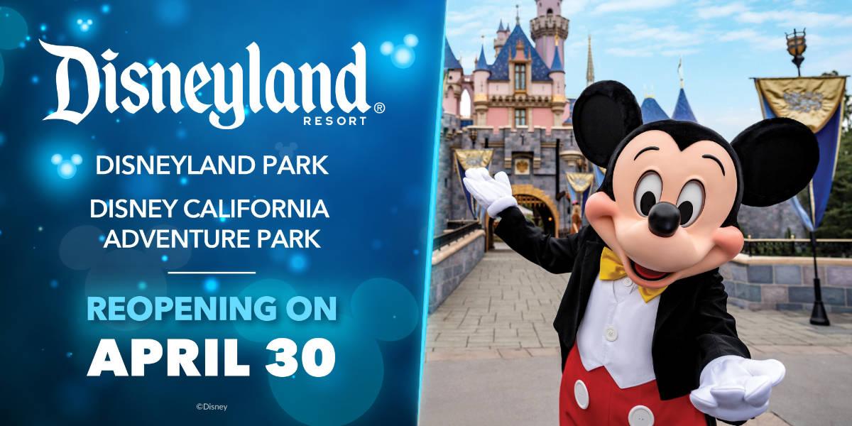 Disneyland Reopening Set for April 30