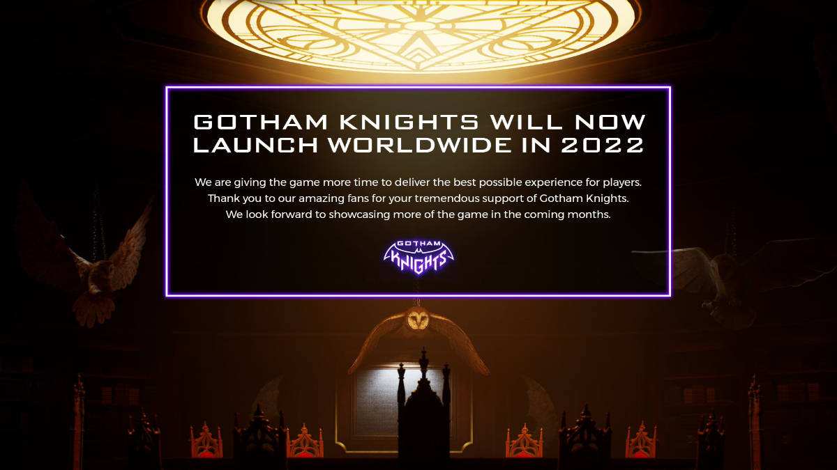 Gotham Knights Release Date Pushed Back to 2022