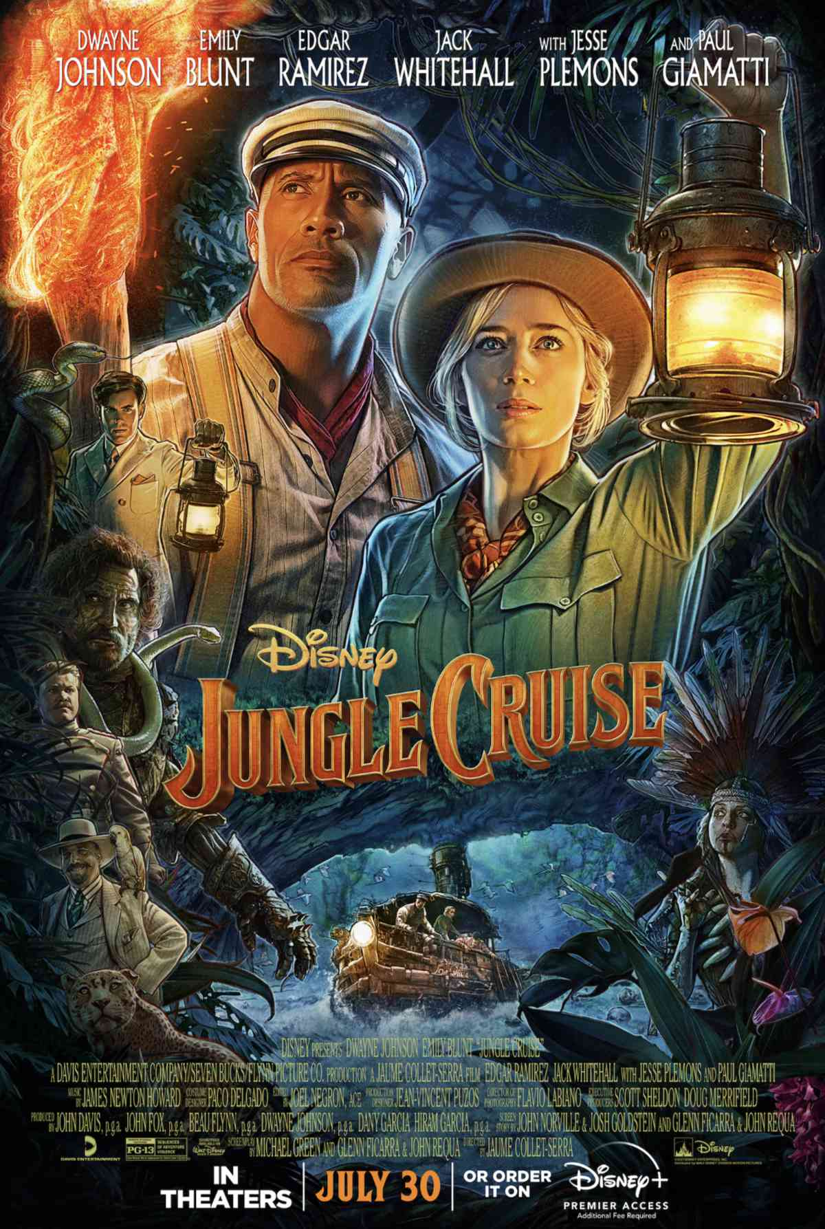 Dwayne Johnson and Emily Blunt in Jungle Cruise
