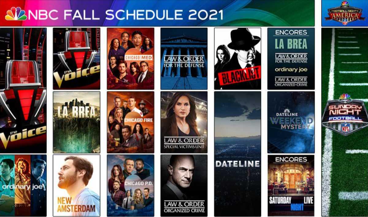 NBC Fall 2021 Schedule Announced