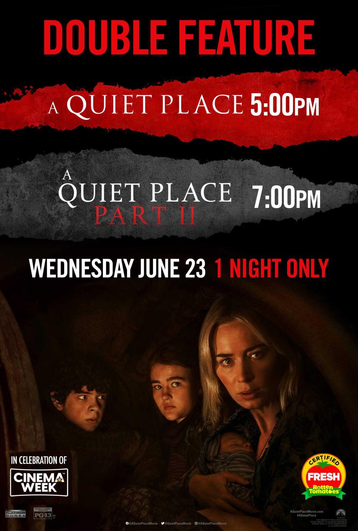Paramount Announces A Quiet Place Double Feature Fan Event