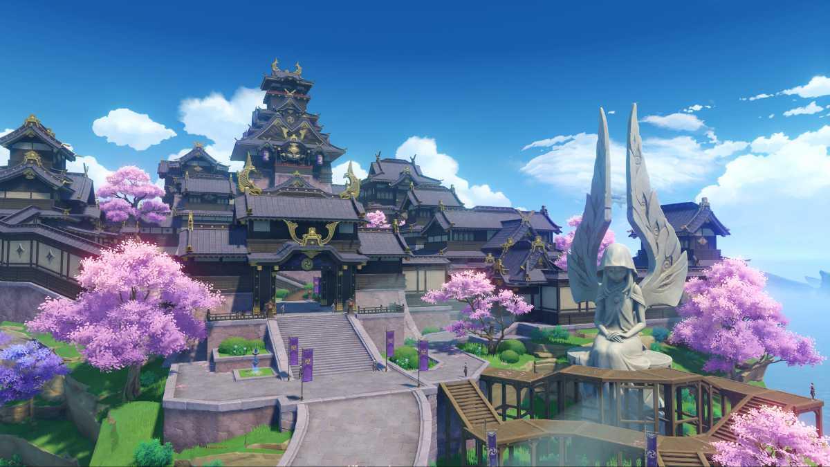 The Inazuma region in Genshin Impact