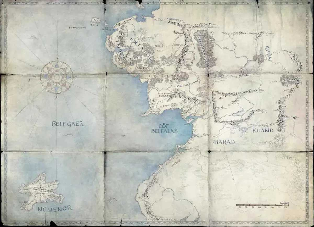The Lord of the Rings map